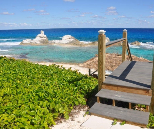 Top of the palapa overlooking the Palapa and Chimney Rock!
