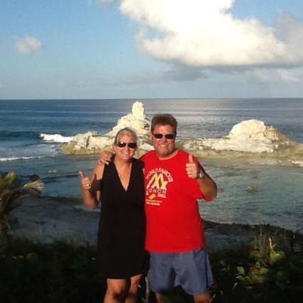 Robin and Mike at Bahama Dreamin with Chimney Rock