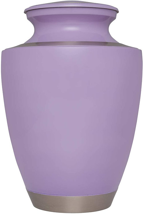 PURPLE URN  Hand Made in Brass - Suitable for Cemetery Burial