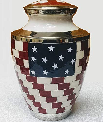 Click image to open expanded view   Flag Cremation Urn - Funeral Urn for Human