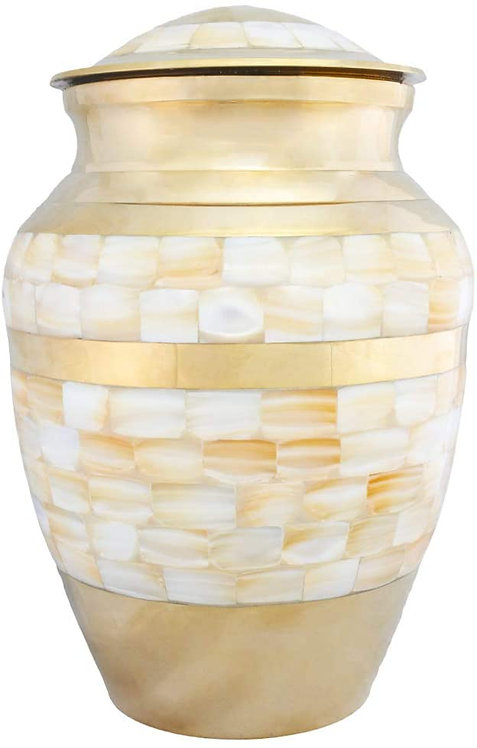 Cremation Urns for Human Ashes Adult,  - Handcrafted in Brass