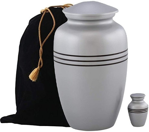 Handcrafted Urn for Human Ashes- Classic Metal