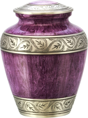Funeral Urn for Men and Women - Brass Hand Engraved Adult Large Urn