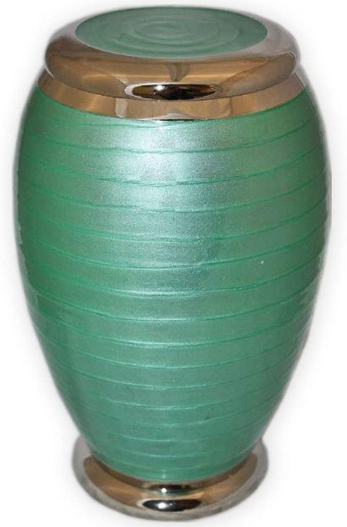 Adult Cremation Urn - Funeral Urn with Stunning Green Enamel Finish (Large)