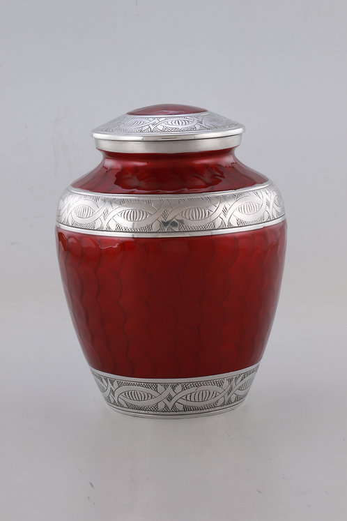 Memorial Urn Carefully Handcrafted with Elegant Finish -Red