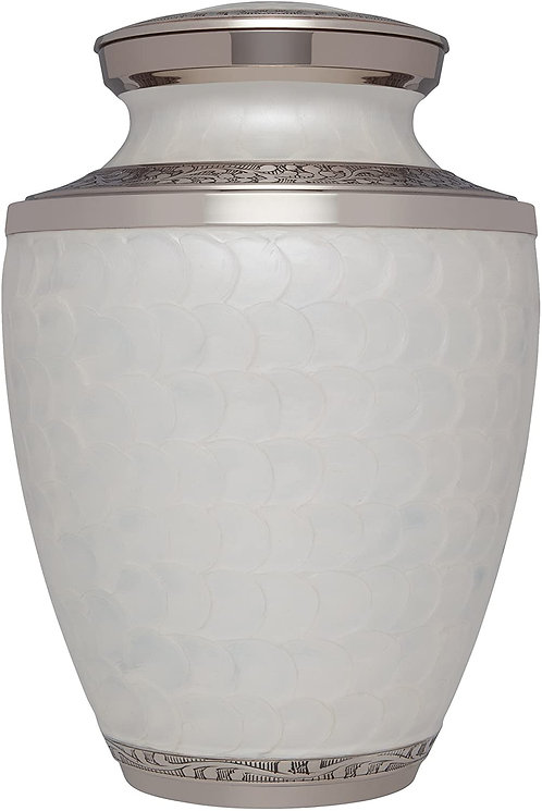 White Funeral Urn Cremation Urn for Human Ashes