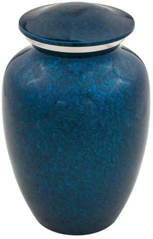 Starry Night Blue Urn- Medium Size Metal Cremation