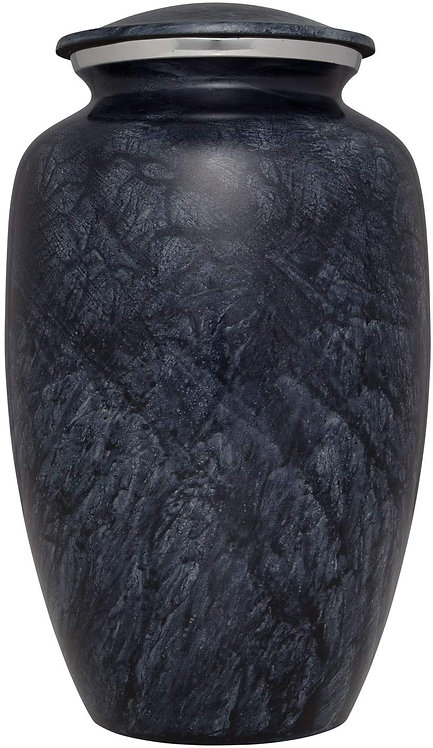 Grey Funeral Urn - For Human Ashes - Hand Made in Aluminumm