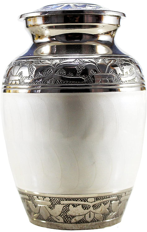 Brass Cremation urn Memorial Container Jar Pot