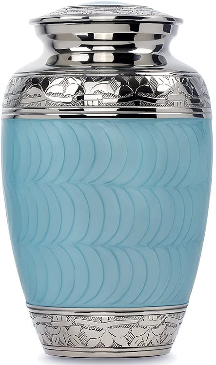Hugs and Kisses Light Blue Adult Urn for Human Ashes