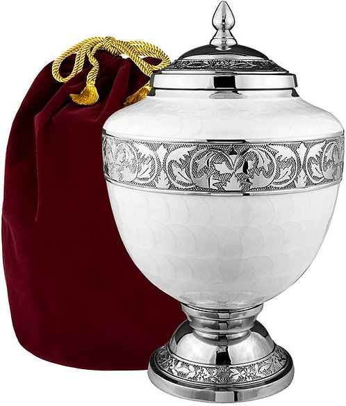 White Chalice Large Urn For Human Ashes