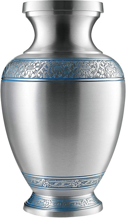 SILVER Cremation Urn for Ashes, for Adults up to 200lbs