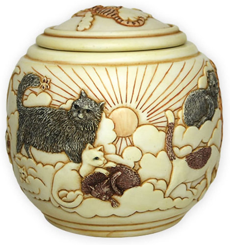 Cats On High URNS/KEEPSAKE - for Large Cats