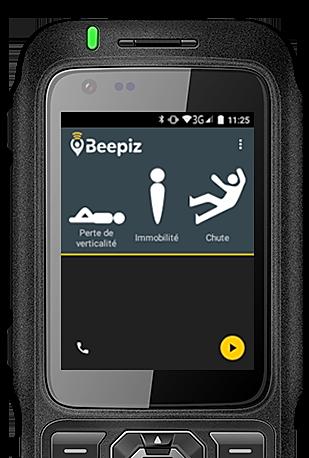 Balise B1 ultra résistante avec application Beepiz DATI PTI