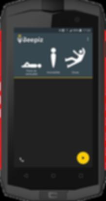 Application DATI / PTI Beepiz dispositif pour le travailleur isolé