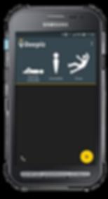 Samsung X Cover 3 avec Application DATI PTI Beepiz