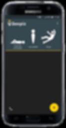 Samsung Galaxy S7 avec application DATI PTI Beepiz