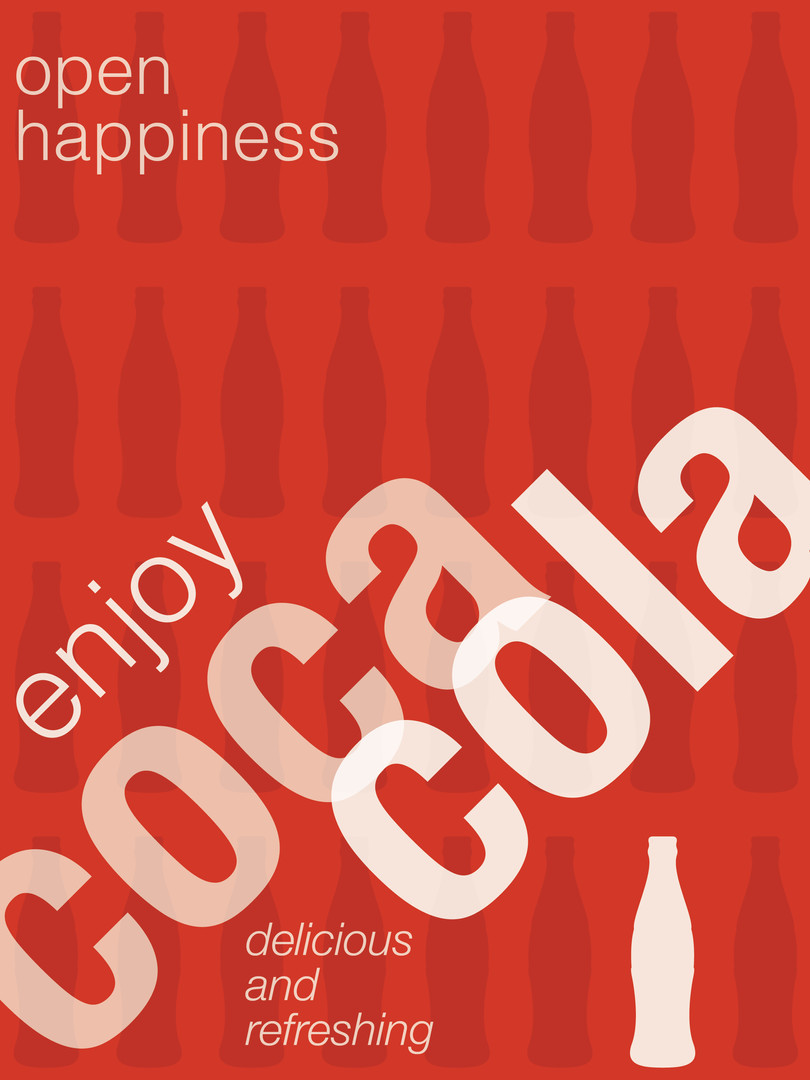 Coca Cola Swiss Style Poster