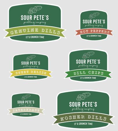Sour Pete's Brand Labels