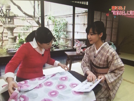 皆さまご覧頂けましたか?NHK京都放送『町家の日特集』で夢館御池別邸の風呂敷講座が放送されました!!