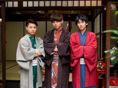男性も美を追求する時代☆NHK京都放送局で夢館御池別邸の男性着物レンタルが特集されました!