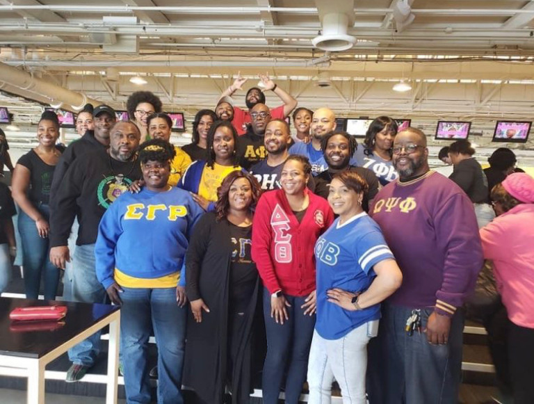Members of Divine 9 organizations at a fundraiser in February, 2020. Photo provided by James Waters.
