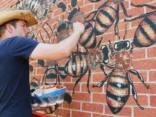 Muralist Mathew Willey's Bees Create Buzz in Washington DC