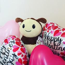 Valentines Day Plush Bee
