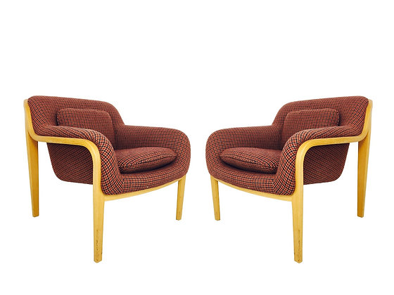 #3004 Pair of Bill Stephens Lounge Chairs for Knoll