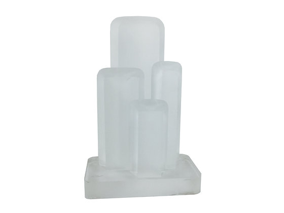"""#2252 Lucite """"ICE"""" Table Sculpture by Eric Bauer"""
