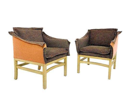 #5677 Pair of 1970's Envelope Armchairs