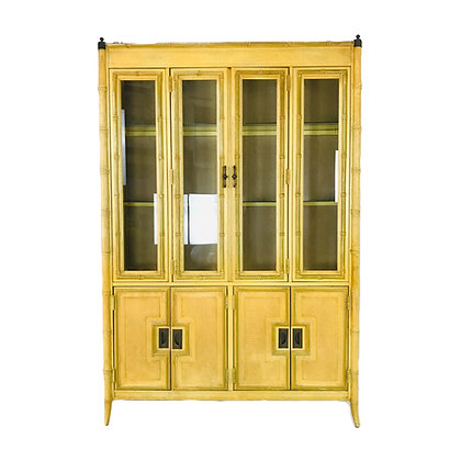 #4855 Faux Bamboo China Cabinet by Stanley