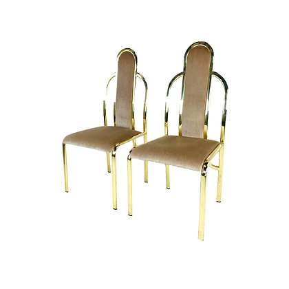 #5249 Pair 1980s Deco Accent Chairs