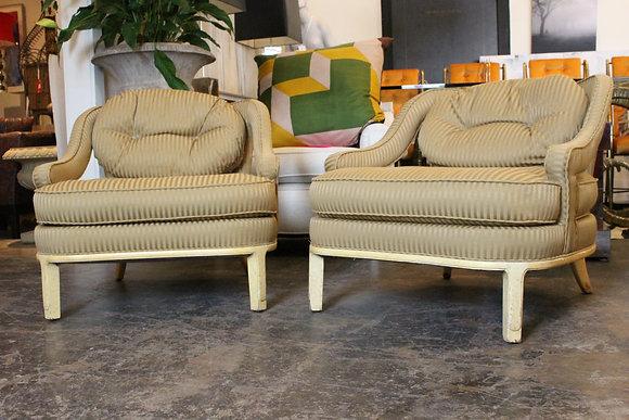 #1209 Pair Open Arm Kittinger Armchairs