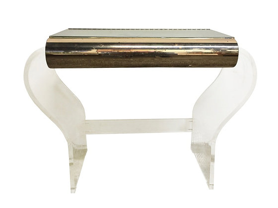 #3533 Lucite & Mirror Vanity Table