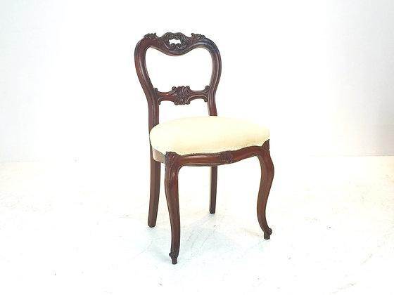 #1777 Single Carved Wood Vanity Chair