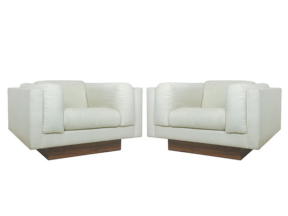 #2478 Pair Floating Chairs in Style Harvey Probber