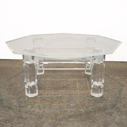 #7206 Octagonal Lucite Table