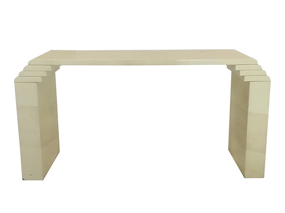 #2202 Faux Skin Stacked Waterfall Console Table