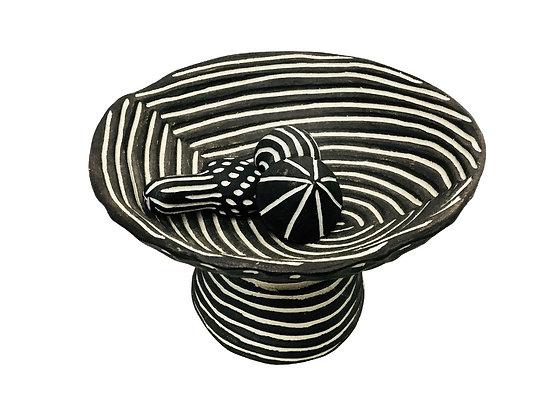 #3198 Black and White Artistic Bowl