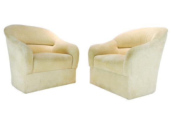 #1875 Pair Ward Bennett Lounge Chairs