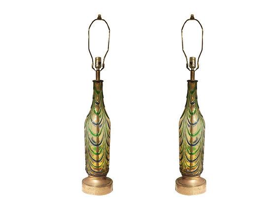 #6521 Pair of Murano Drip Lamps