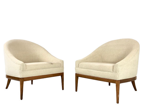 #3945 Pair of Curved Back Slipper Chairs