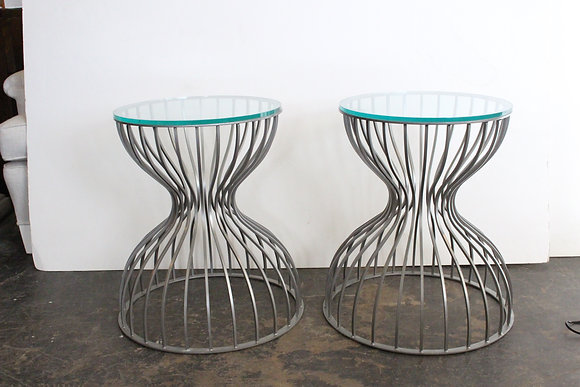 #1134 Pair Cage Side Tables