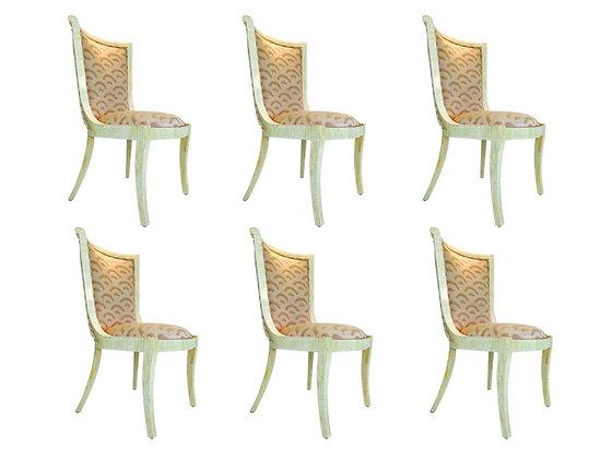 #1864 Set of 6 Enrique Garcel Bone Dining Chairs