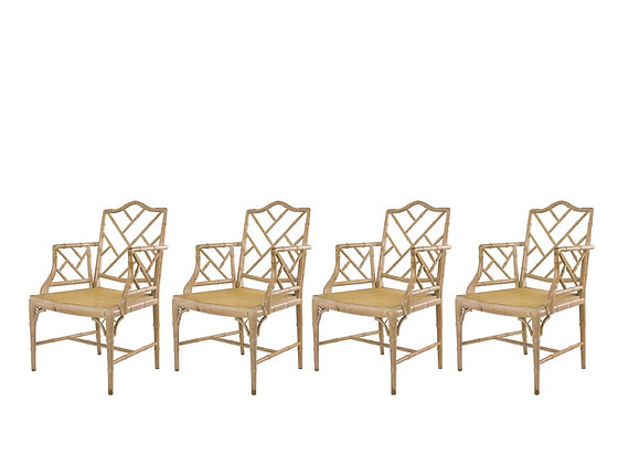 #3103 Set of 4 Faux Bamboo Dining Chairs