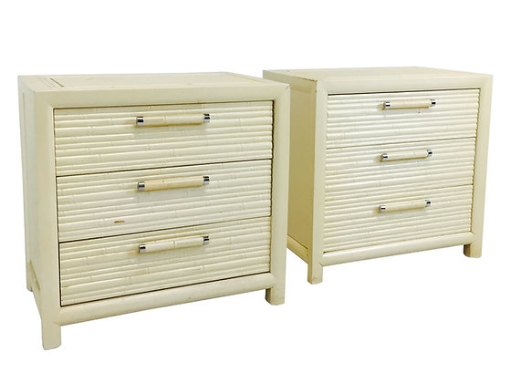 #2982 Pair of Faux Bamboo Nightstands by Century