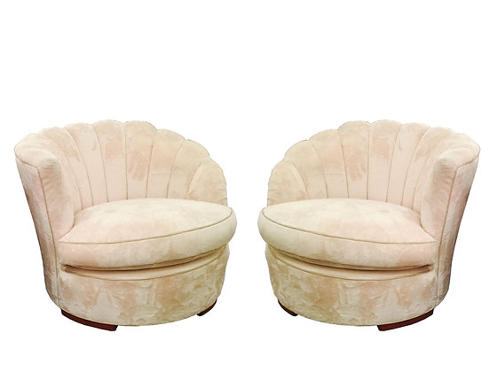 #2850 Pair of 1940s Deco Slipper Chairs