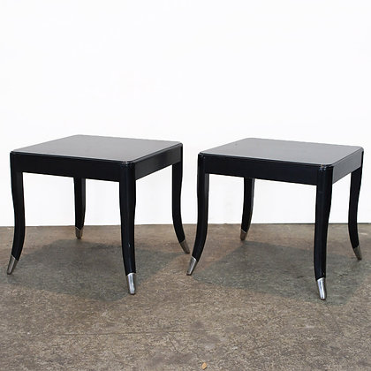 #7259 Pair Black Tables