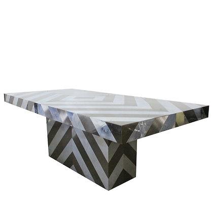 #8161 Herringbone Chrome Dining Table